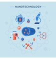 Nanotechnology Decorative Flat Icons Set vector image vector image