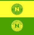 nature emblem n letter n monogram vector image vector image