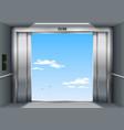 open the elevator doors vector image