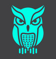 owl glyph icon halloween and scary animal sign vector image