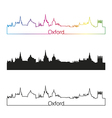 Oxford skyline linear style with rainbow vector image vector image