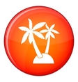 Palm trees icon flat style vector image vector image