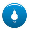 pear icon blue vector image vector image