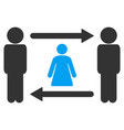 persons woman exchange icon vector image vector image