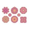 pink ornate pattern vector image vector image