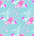 Purple floral pattern vector image vector image