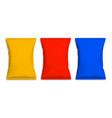realistic red blue and yellow blank template vector image