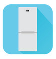 refrigerator flat design blue icon vector image