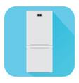 refrigerator flat design blue icon vector image vector image