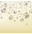 Retro Christmas Ornaments EPS 8 vector image
