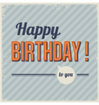 Retro vintage birthday card vector image