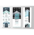 Roll up banner stands flat templates geometric vector image vector image