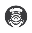 russian policeman officer simple silhouette vector image vector image
