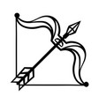 sagittarius sign black horoscope symbol vector image