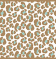 seamless leopard pattern simple texture vector image vector image