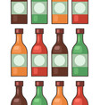 seamless texture glass bottles various hot vector image vector image