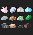 semi precious gemstones stones and mineral stone vector image vector image