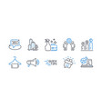 set business icons such as skyscraper vector image vector image
