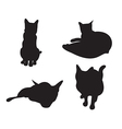 Set of cats Silhouettes isolated on a white vector image vector image
