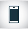 smartphone icon for web and ui on white background vector image vector image