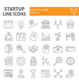 startup thin line icon set finance symbols vector image vector image