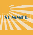 summer background concept with sunburst in paper vector image vector image