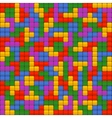 Tetris Bricks Seamless Background vector image vector image