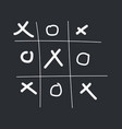 tic-tac-toe game vector image
