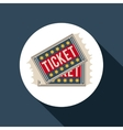 ticket film design vector image vector image