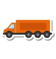 truck vehicle delivery isolated icon vector image vector image