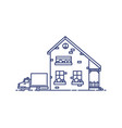 two-storey suburban house with porch built vector image vector image