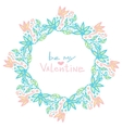 Valentines day decoration Cute floral frame in vector image vector image