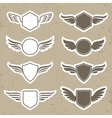 Vintage heraldic shapes with wings vector image vector image