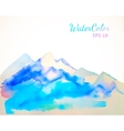 Watercolor mountain background vector image