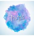 watercolorbluepurple1 vector image vector image