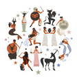 zodiac signs style mythology ancient greece vector image vector image