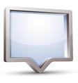 3d rectangular rounded empty speech bubble vector image