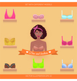 Bra and bustiers Womens clothing vector image