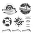 set of nautical logos vector image