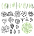 Zentangle nature collection Hand drawn vector image