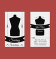 Design business card tailor vector image