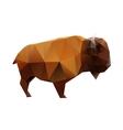 Polygonal Buffalo vector image