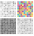 100 religious festival icons set variant vector image vector image