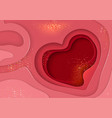 abstract layered background with heart vector image vector image