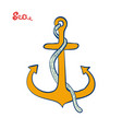 anchor icon sea or shipping symbol vector image