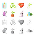 and icon collection of vector image vector image