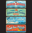 australian states territories and islands plates vector image vector image