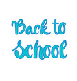back to school logo colorful text on white vector image vector image