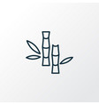 bamboo icon line symbol premium quality isolated vector image vector image