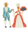 baroque epoch man and woman court dame and vector image vector image